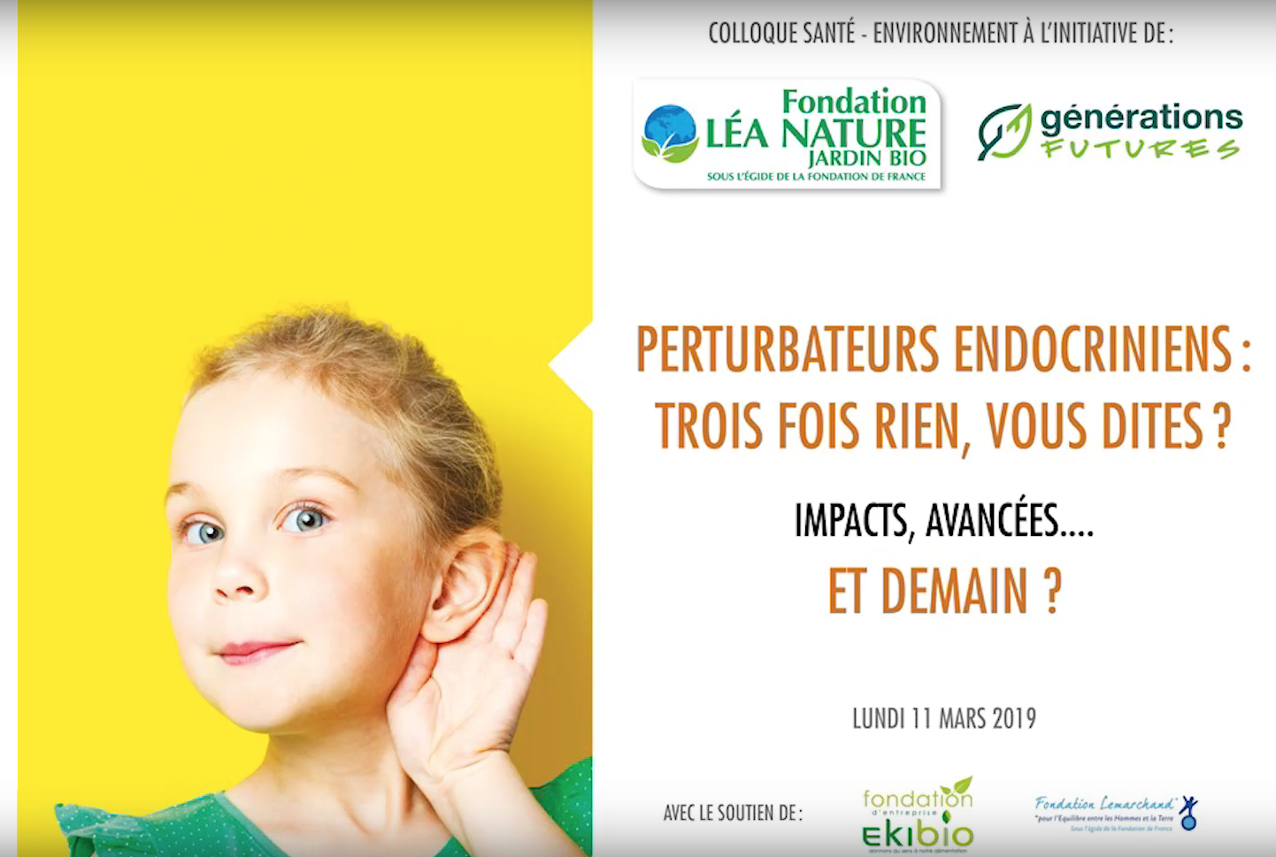 Colloque perturbateurs endocriniens du 11 mars 2019 à l'Assemblée Nationale