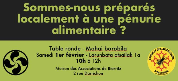 Table ronde à Biarritz sur l'autonomie alimentaire
