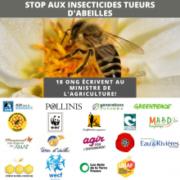 Neonicotinoïdes: 18 ONG écrivent au ministre de l'Agriculture sur les insecticides tueurs d'abeilles